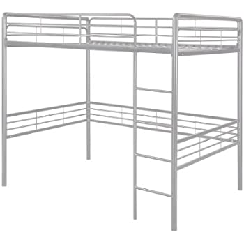 this item dorel home products full loft bed silver - Loft Bed Frame Full