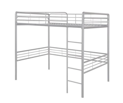 Amazon com  DHP Full Metal Loft Bed with Ladder  Space Saving Design   Silver  Kitchen   Dining. Amazon com  DHP Full Metal Loft Bed with Ladder  Space Saving