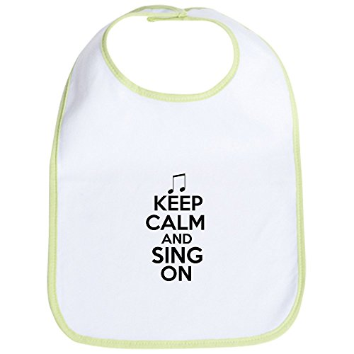 Cafepress   Keep Calm And Sing On Bib   Cute Cloth Baby Bib  Toddler Bib