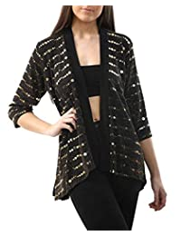 RIDDLED WITH STYLE Forever Ladies 3/4 Sleeve Lurex Sparkle Shrug