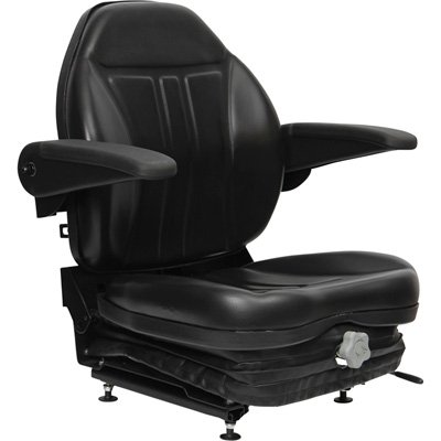 (Highback Suspension Seat with Foldup Armrests - Black, Model# 36O0OBK02UN)