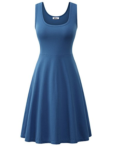 Herou Summer Dress with Sleeveless for Women Acid Blue X-Large