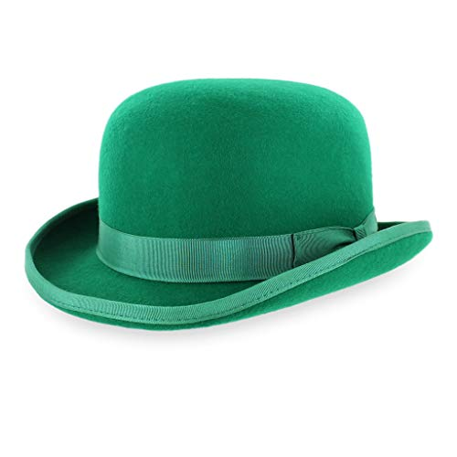 Belfry Mickey Irish Green Derby Hat With Feather And Liner Green