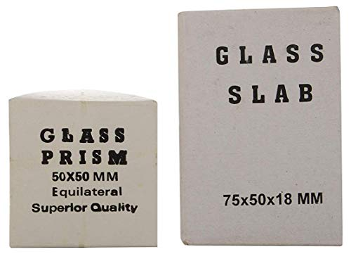 MV Glass Slab 75 X 50 X 18 Mm And Glass Prsim 50 X 50Mm (Combo Of 2) Price & Reviews