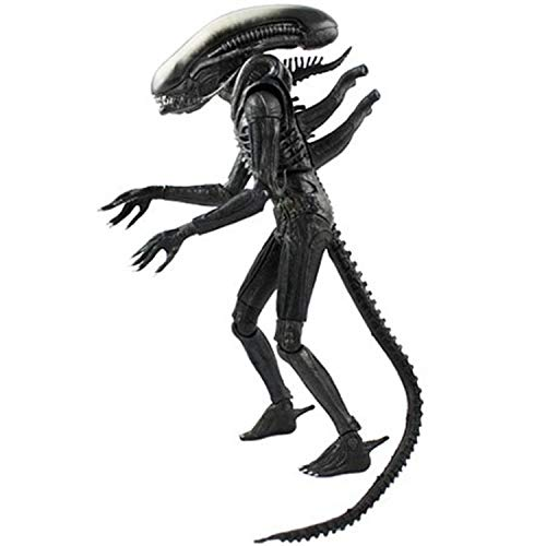 (MAKCUSS – Alien 1979 fully articulated action figure 7 inches, with bendable tail and extendable inner jaw Action Figure)