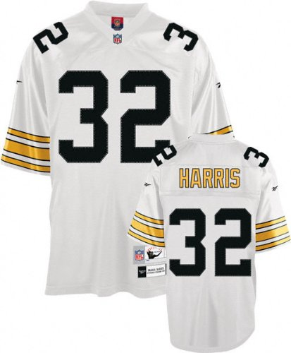 Reebok Pittsburgh Steelers Franco Harris Premier Throwback White Jersey (Medium)