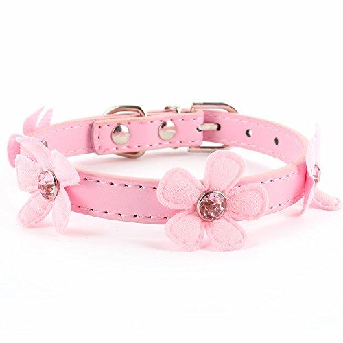 Norbi Pet Dog Bling Love Bling Diaond Heart Pendant Collar