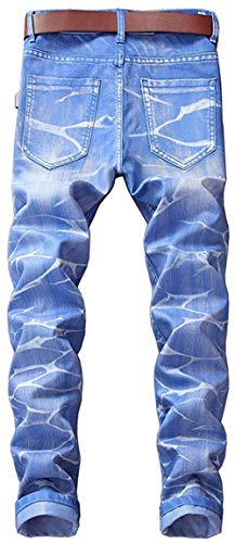 Pantaloni Giovane Fashion Gamba Uomini Saoye Cher Lavato Casuale Orifizi Himmelblau Denim Retrò Rette Jeans Essentials xCaYqdPw