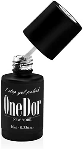 OneDor® One Step Gel Polish UV Led Cured Required Soak Off Nail Polish (No Wipe Top Coat)