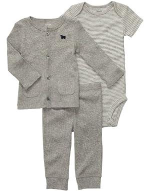 Baby Boys' 3 Pc Cardigan Set