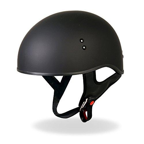 Hot Leathers D.O.T. Casco de moto homologado con visera desplegable, Mate, Mediano