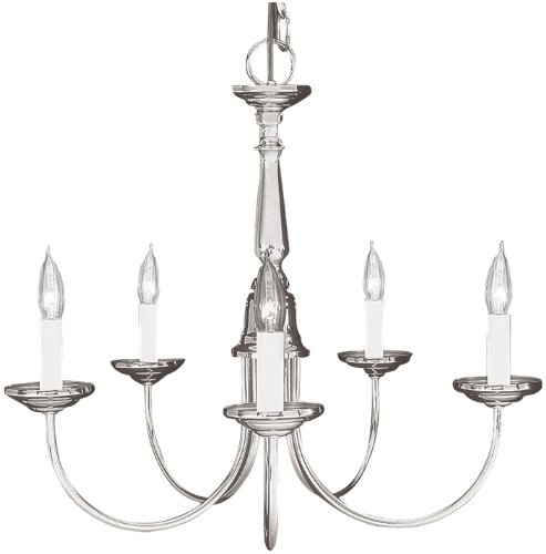 Livex Lighting 6030-91 Home Basics 5 Light Brushed Nickel Chandelier Review