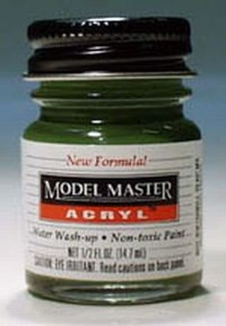 - Medium Green Testors Acrylic Plastic Model Paint
