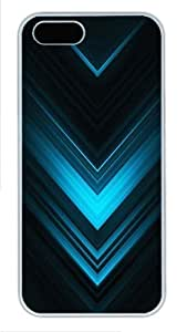 Abstract Blue Arrows Custom Hard for For SamSung Galaxy S4 Mini Phone Case Cover - Polycarbonate - White hongguo's case