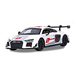 GYZS-TOY 1:32 Audi R8LMS Alloy Car Model Racing Tail Car Sports Car Sound and Light Door Pull Back Toy Car by GYZS-TOY