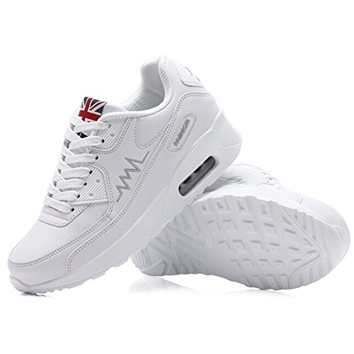 Zapatillas Deporte para Mujer de Viaje Amortiguación Aire Correr y de Running Deportes de Padgene para Blanco Zapatos Zapatos dgEqCdw