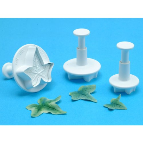 (OKSLO Plunger cutters 3/pkg-veined ivy leaf)