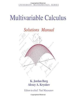 multivariable calculus solutions manual university mathematics rh amazon com Calculus Equations Calculus Formulas