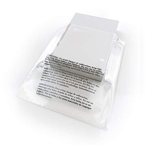 Large Poly Bags - Poly Bags with Suffocation Warning - 20x24 Extra Strong Seal - 100 Pack - Clear Poly Bags - Range of Sizes Available - Retail Supply Co