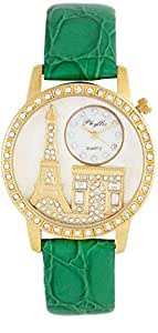 Yes Swiss Women's White Dial Leather Band Watch [YL6040]