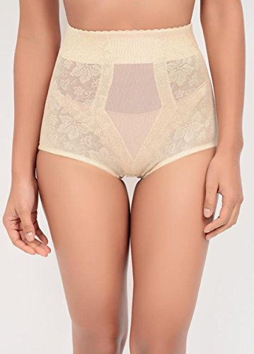 Lace Jacquard Control Brief (281), Beige, L