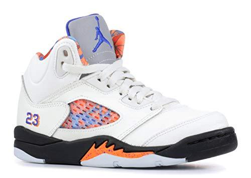 Jordan Boys Jordan 5 Retro PS Basketball Shoes White 3 Medium (D) Little Kid