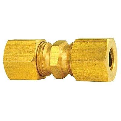 4LIFETIMELINES Brass compression union, 1/4, 10/bag: Automotive