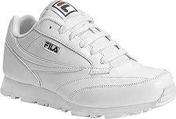 Fila Boy\'s Classico 9 Sneakers,White,3.5 M Big Kid