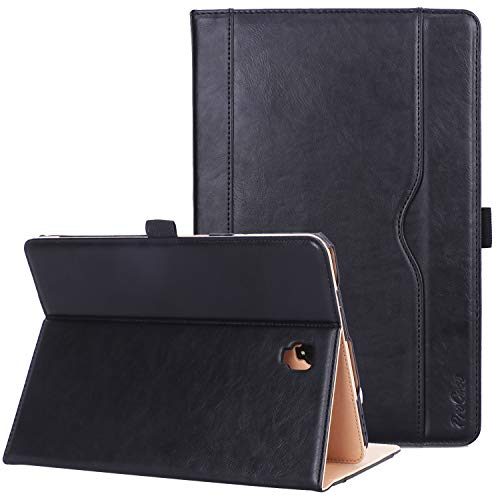 ProCase Folio Case for Galaxy Tab S4 10.5, Stand Protective Case Cover for Samsung Galaxy Tab S4 (10.5-Inch SM-T830 T835 T837) with S Pen Holder, Multiple Viewing Angles -Black
