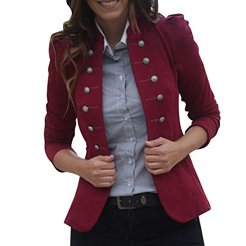 - Orangeskycn Women Double Breasted Retro Blazer Jacket Overcoat