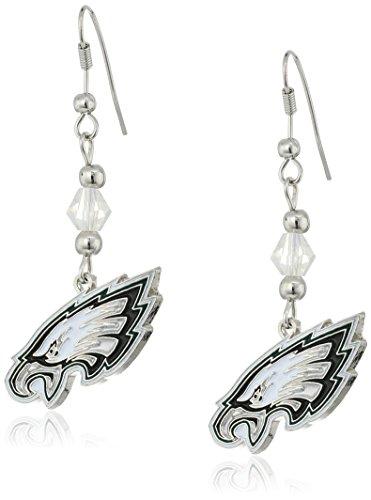 NFL Philadelphia Eagles Crystal Dangle Earrings