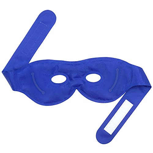 Sleep Eye Mask Ice Pack with Hot Cold Therapies Reusable and Fast Relief for Dry Eyes, Puffy Eyes, Dark Circles, Improve Sleeping, Alleviate Swollen Eyes, Fatigue, Headache and Tension