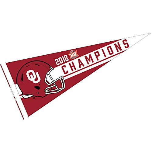 College Flags and Banners Co. Oklahoma Sooners 2018 Big 12 Football Champions Pennant