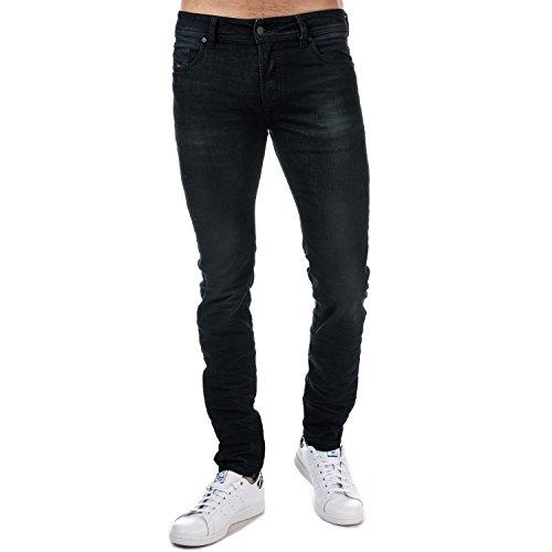 Diesel Men's Sleenker 0842Q Skinny Stretch Jeans Cotton Dark Blue Denim (W38XL32)