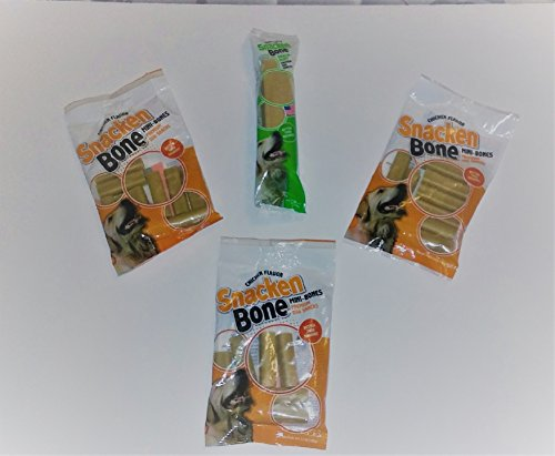 Snacken Bone Mini Bones and Denta Mint Dog Treat Pack