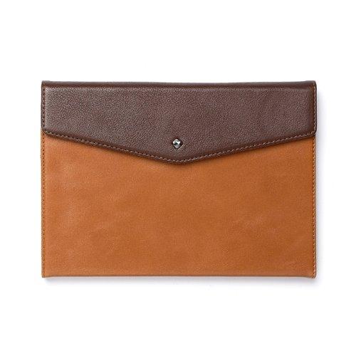 Zenus Envelope Folio Genuine Leather Carrying Case with K...