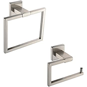 KES Bathroom Accessories Toilet Tissue Holder/Towel Ring SUS304 Stainless Steel Wall Mount, Brushed Finish, LA242-21