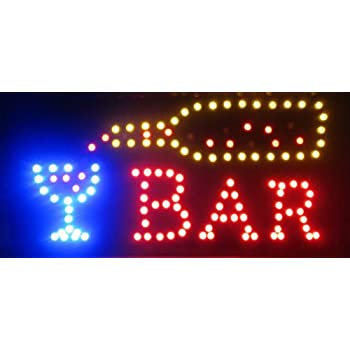 2xhome open bar led neon business motion for Bar decor amazon