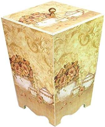 ゴミ袋 ゴミ箱用アクセサリ クリエイティブ牧歌的なスタイルのゴミ箱レトロ家庭用ゴミ箱リビングルームの寝室収納バケツ キッチンゴミ箱 (Color : F)