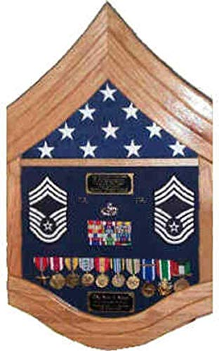 E-9-Air-Force-Chief-Master-Sergeant-CMSgt-Shadow-BoxRetirement-Display