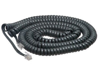 Colour Cord - 30 Feet Extra Long Phone Handset Cord Dark Gray Color Matches & Compatible with Cisco 7800/7900 / 8800 Series 7940 7941 7942 7945 7960 7961 7962 7965 8811 8841 8845 8851 8861