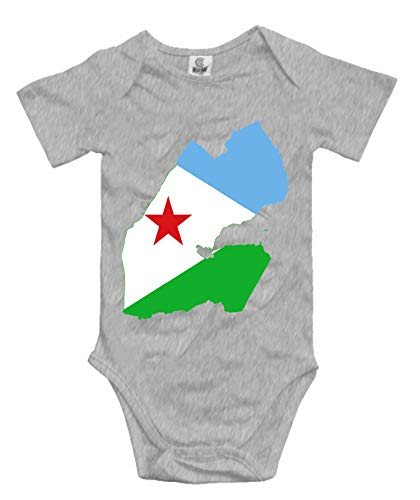 DHDFHDF Baby Onesie Djibouti Flag Jumpsuit Soft Creeper Romper Comfy Bodysuit ()
