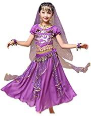 Astage Girl Belly Dance Sequin Indian Dance Costume Halloween Wear Carnival Sets