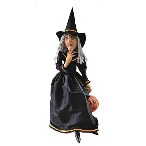 (MattsGlobal Conversation Starter Clarice Witch Figure-Hand Painted Face and Extreme Attention to Detals-Halloween)