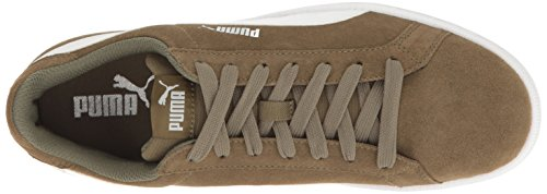 Puma Heren Smash Sd Mode Sneaker Gebrand Olijf-puma Wit