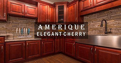 AMERIQUE 691322310733 Luxury Elegant Cherry Vanity Cabinet 30