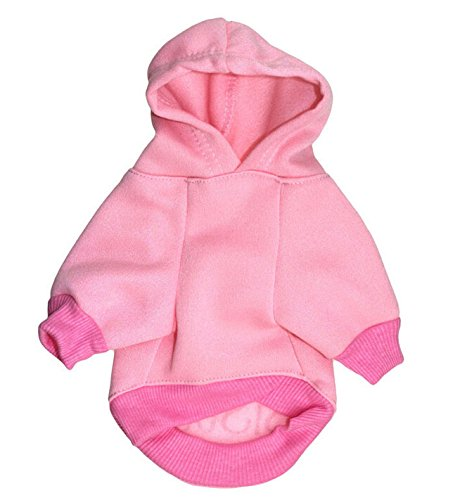 LISEN Dog Hoodie Clothes Pet Apparel Custumes Puppy Cotton Outfit Clothing Big Sister Printed,Pink, Small Size