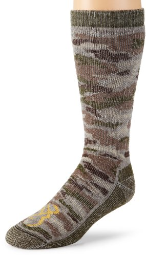 Browning Hosiery Men's Camo Wool Blend Sock, 2 Pair Pack (Camo Green, Large) (Wool Camo Sock)