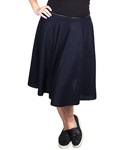 Plus Size Navy Easy Skirt --Size: 1x Color: Navy