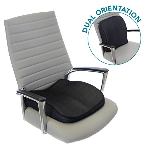 Milliard Memory Foam Lumbar Seat Cushion, Dual Use: Lower Back Support or Seat Wedge